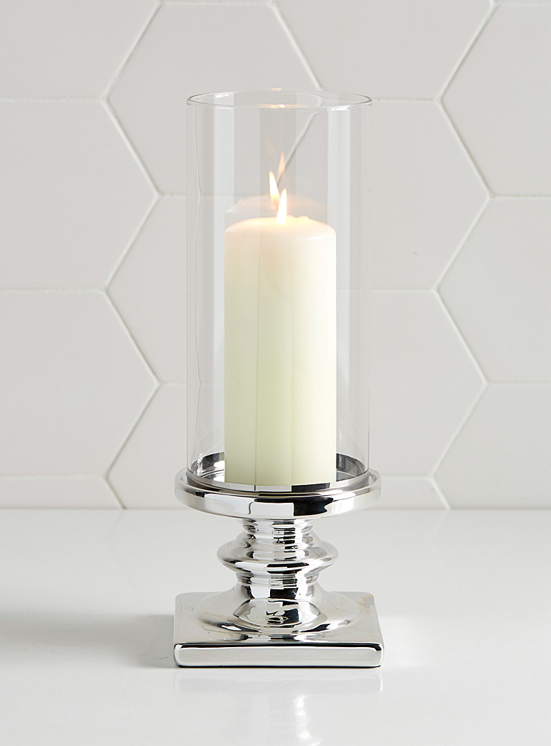 silvery-pedestal-candle-holder