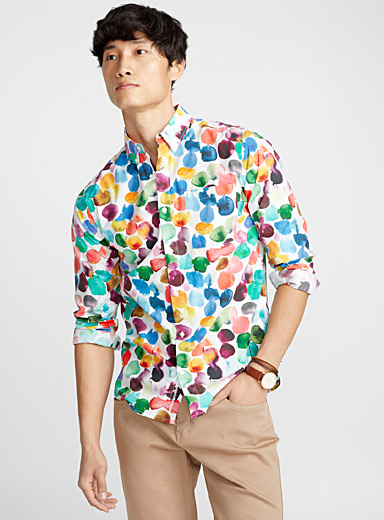 Painterly disc shirt <br>Semi-tailored fit