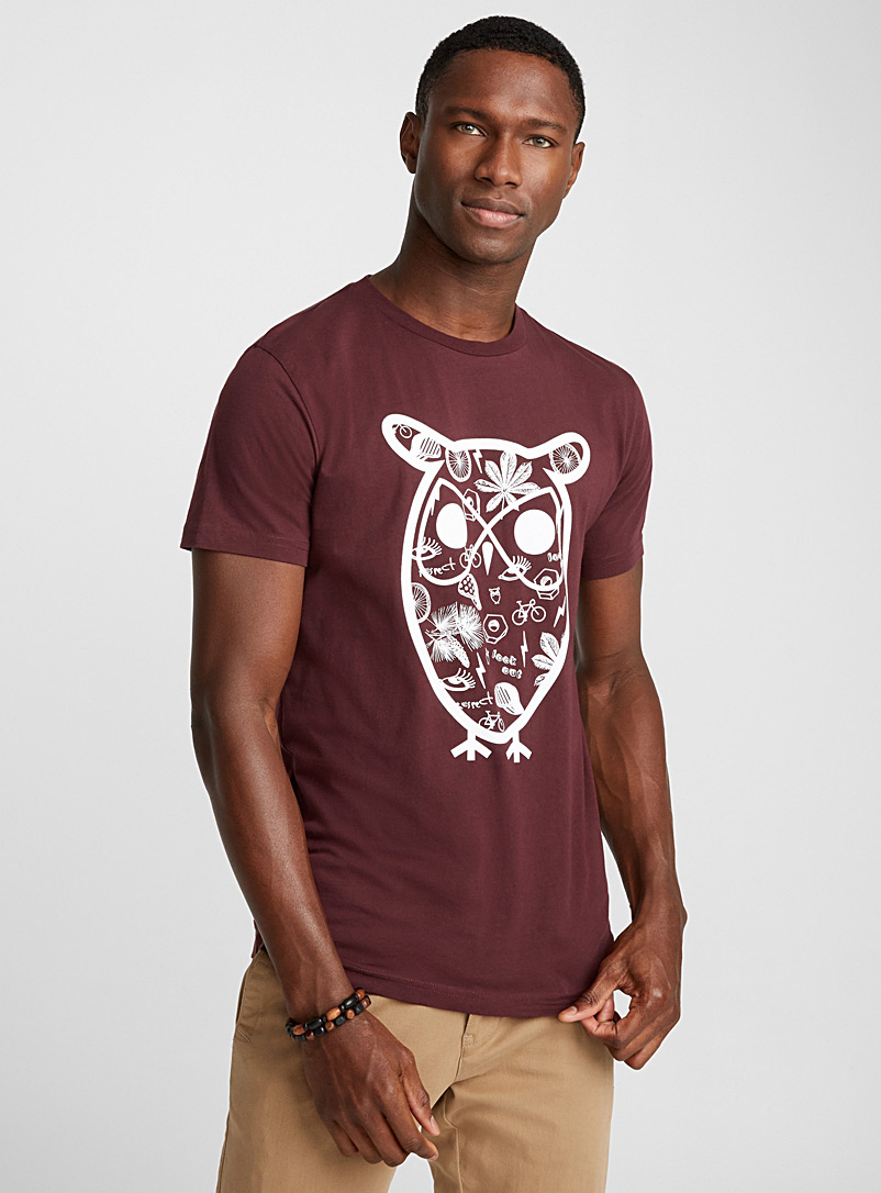 Owl pictogram T-shirt - Prints - Ruby Red