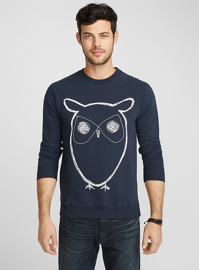 Le sweat Hibou - Sweats et kangourous - Bleu royal-saphir