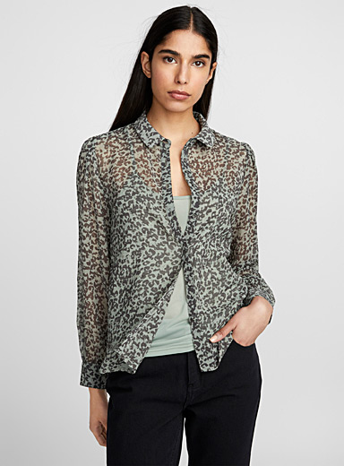 Leopard camouflage shirt