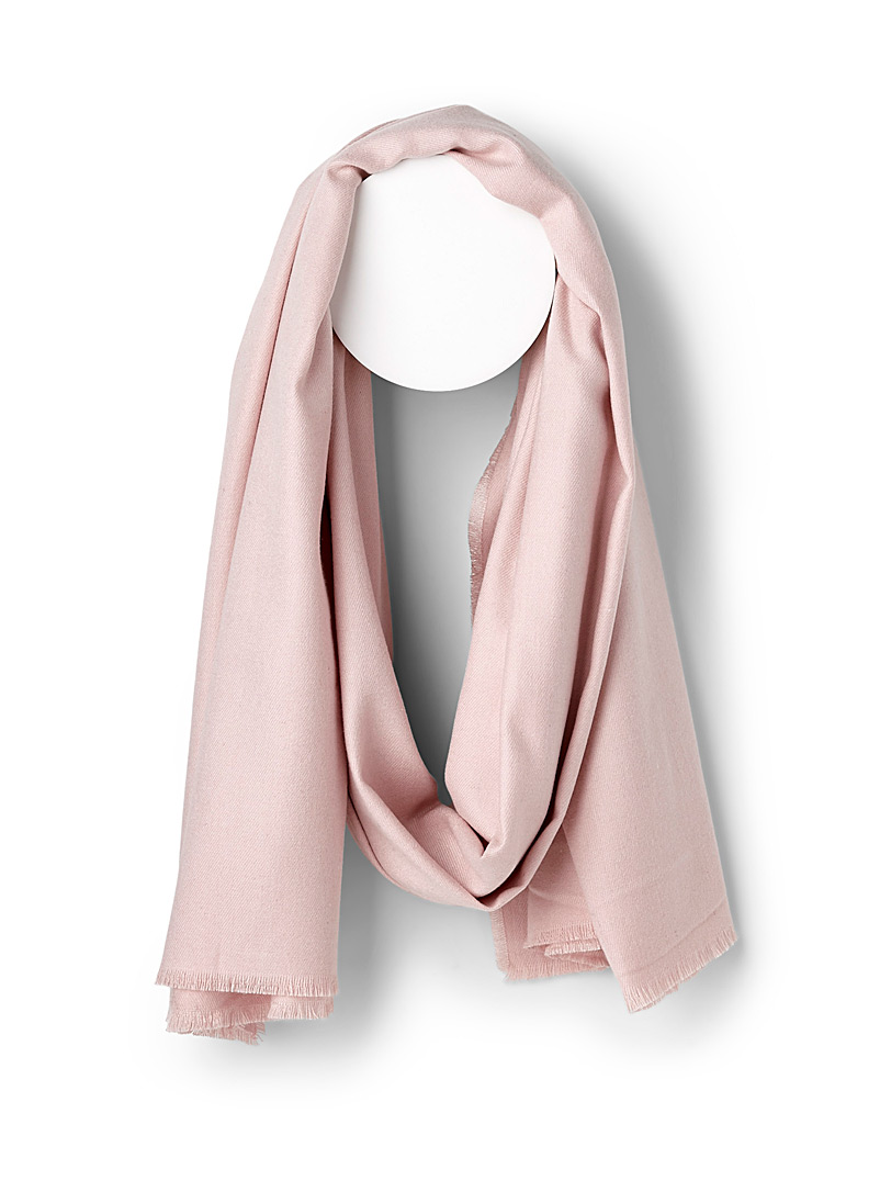 ICHI Pink Velvety monochrome scarf for women