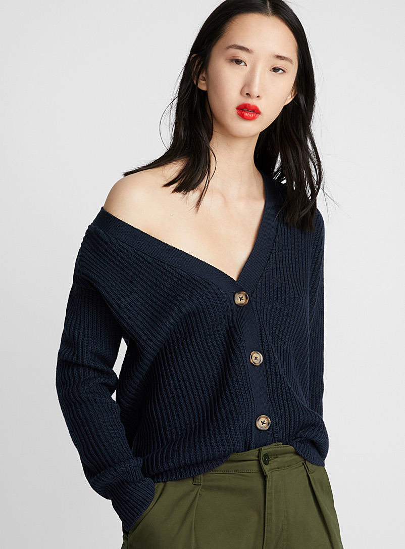 buttoned-ribbed-cardigan