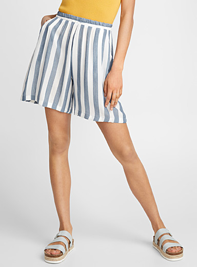 Soft stripe short