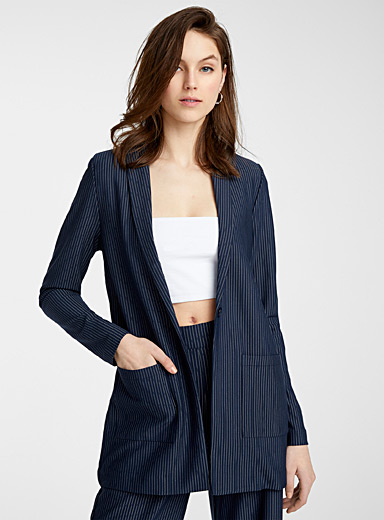 Long banker stripe jacket