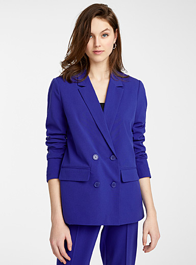 Ultramarine blue double-breasted jacket