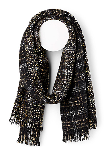 Metallic spotted scarf