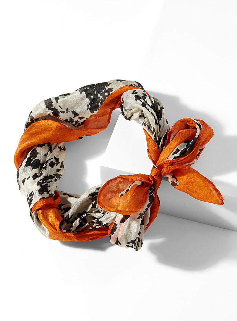 Versatile oranges scarf - Light scarves - Patterned White