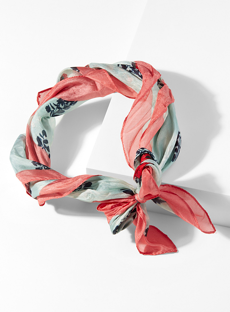 Versatile oranges scarf - Light scarves - Patterned Blue