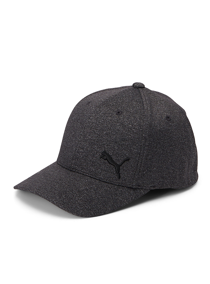 Minimalist heathered cap - Caps - Black