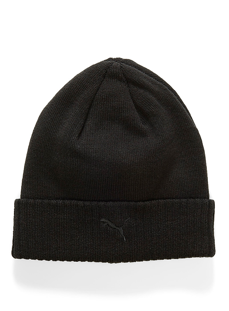 Ribbed cuff tuque - Tuques - Black