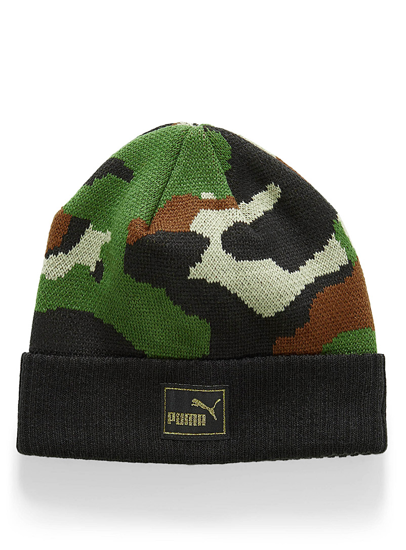 Cuffed camo tuque - Tuques - Patterned Green