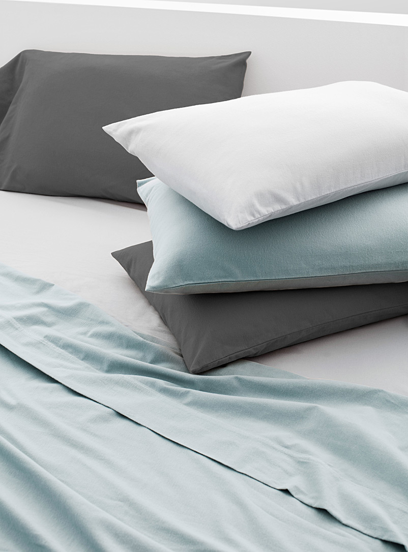 Solid flannel sheet set  Fits mattresses up to 15 in. - Flannel - Baby Blue