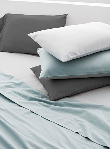 Solid flannel sheet set  Fits mattresses up to 15 in.