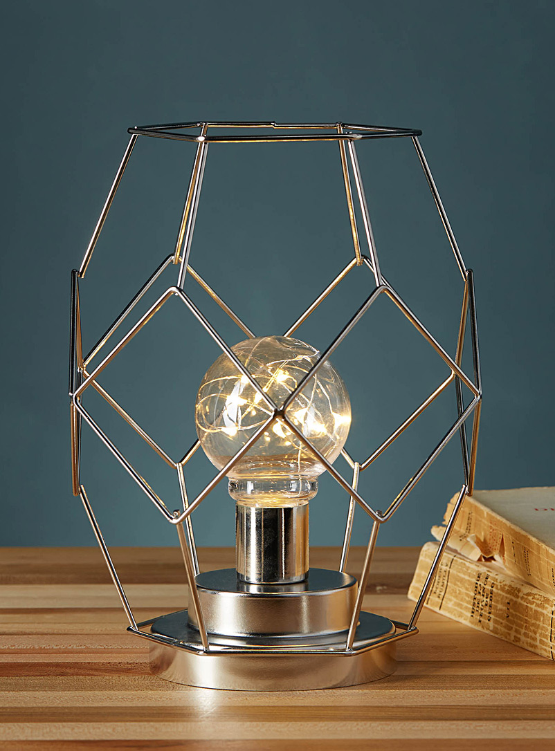 Metallic wire lantern - Candles & Lanterns - Silver