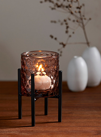 Small sparkling diamond candle holder