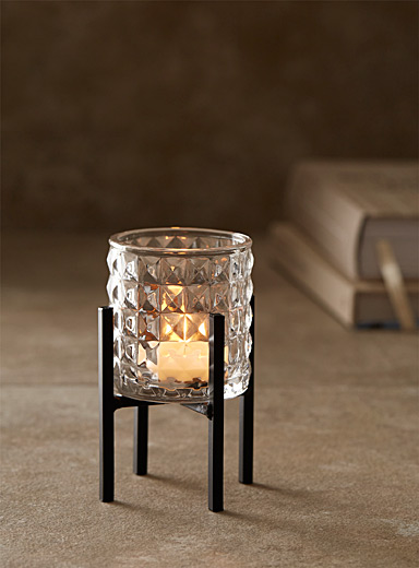 Small prismatic candle holder