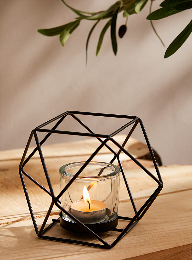 Black metal candle holder - Stylish Objects & Decor Accents - Black
