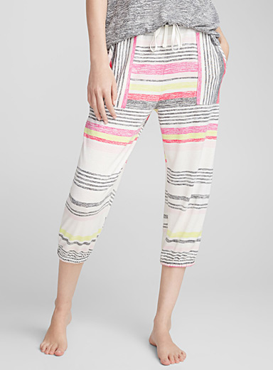 Le jogger rayures multicolores