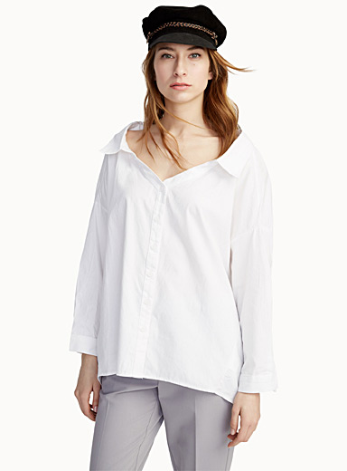 Solid loose shirt