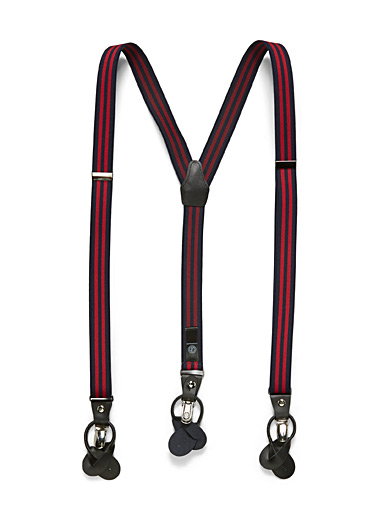 Lindenmann Marine Blue Classic suspenders for men