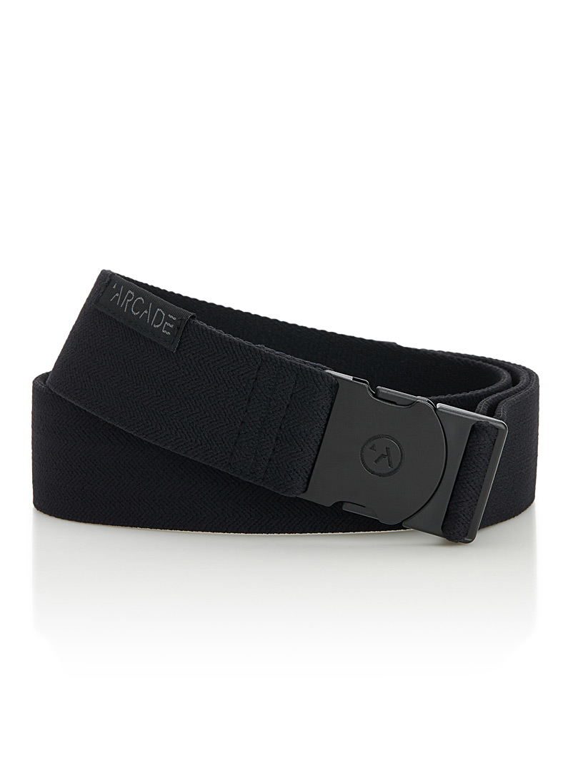 Arcade Black Midnighter belt for men