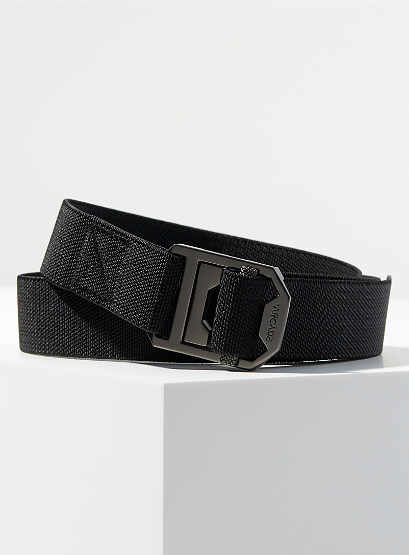 Arcade Black Guide thin automatic belt for men