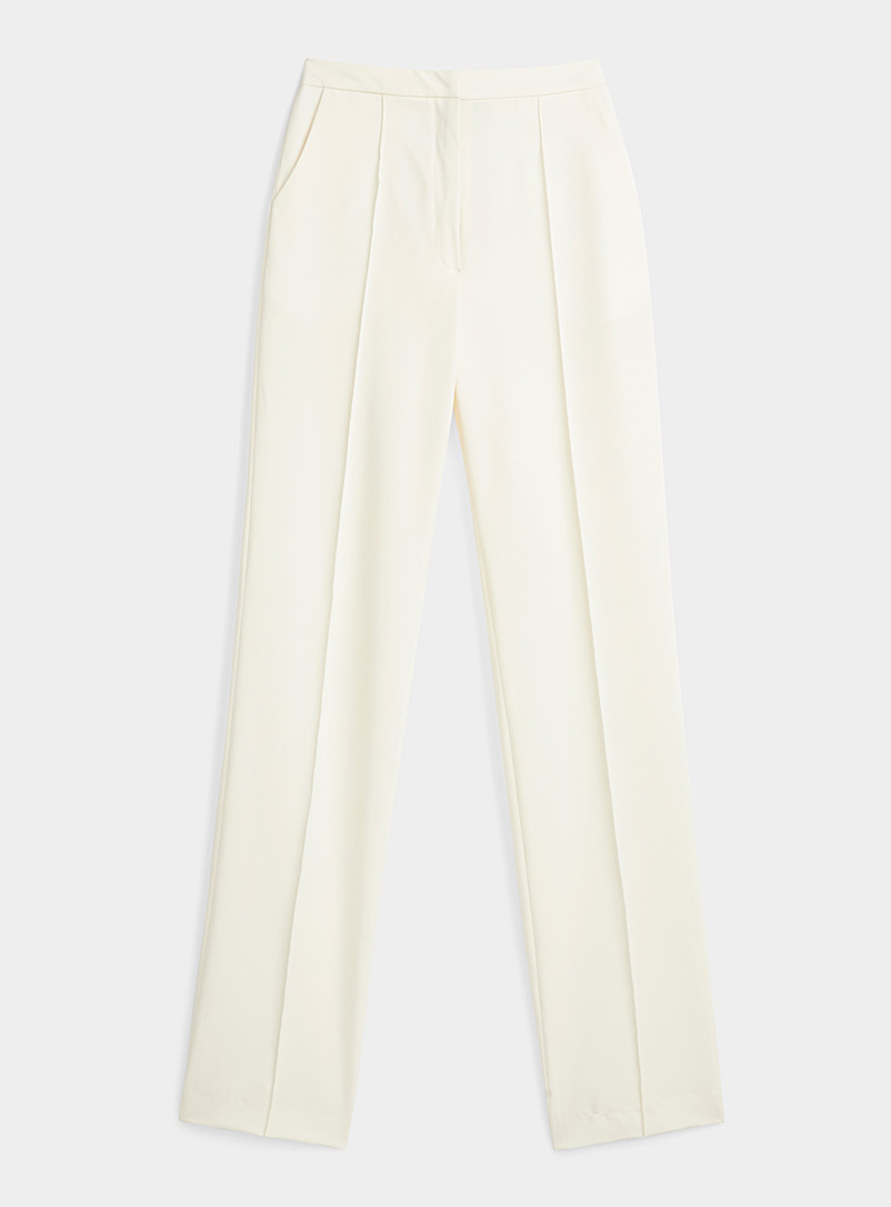 Sid Neigum White Cream tailored pant for women