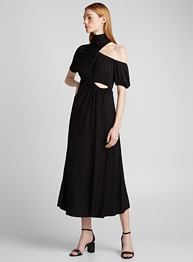 High-neck dress
