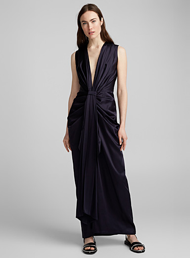 Draped evening dress