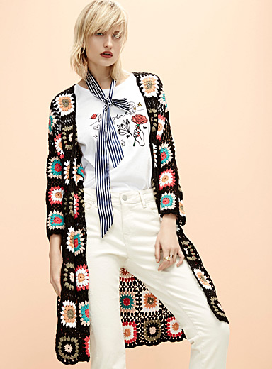 Macrame patchwork jacket