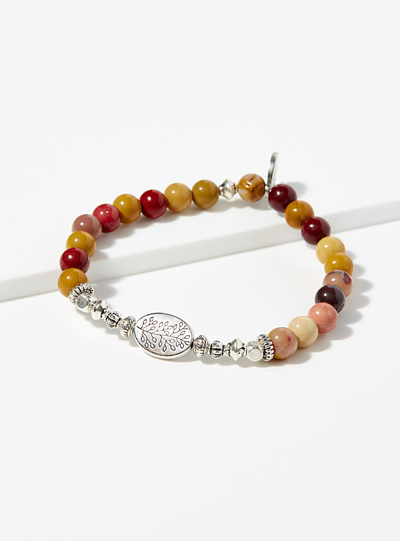Amber graded bracelet - Bracelets - Patterned Red