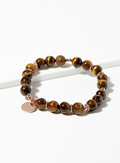 Tiger eye and pink bracelet