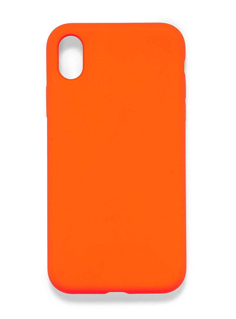 Felony Case: L'étui orange néon pour iPhone XR Orange pour femme