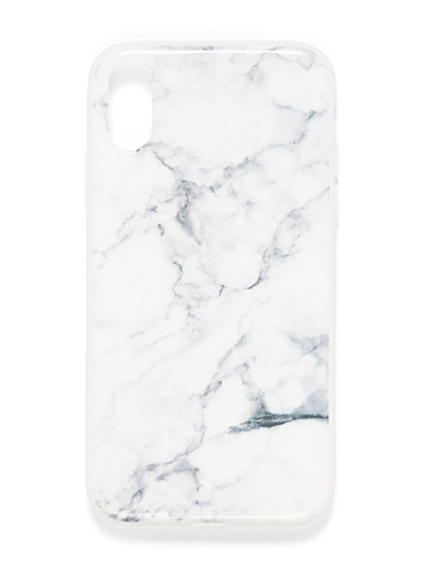 Felony Case White Marble-like iPhone XR case for women