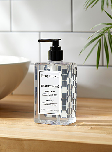 Ruby Brown White Bergamot and tea hand soap for men