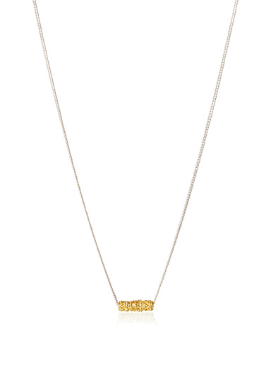 Regal golden tube necklace