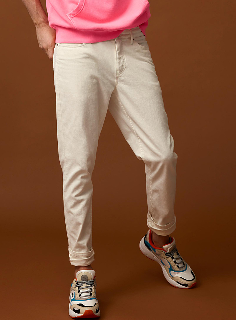 5-pocket stretch chinos  Stockholm fit - Slim - Slim fit - Ivory White