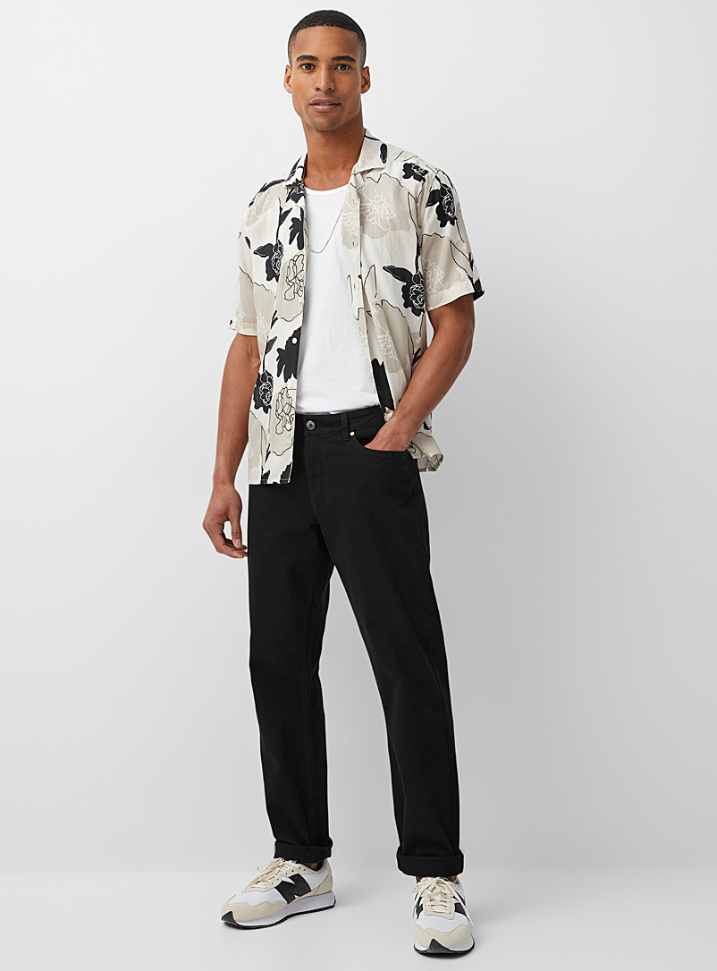 5-pocket stretch organic cotton pant  Stockholm fit-Slim - Slim fit - Black