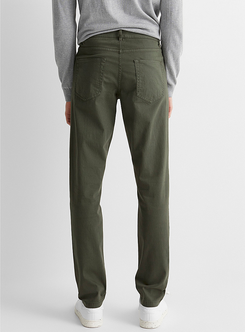 5-pocket stretch organic cotton pant  Stockholm fit-Slim - Slim fit - Khaki