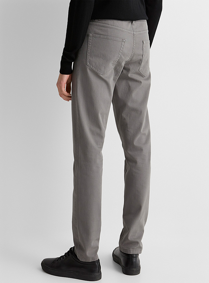 5-pocket stretch organic cotton pant  Stockholm fit-Slim - Slim fit - Grey
