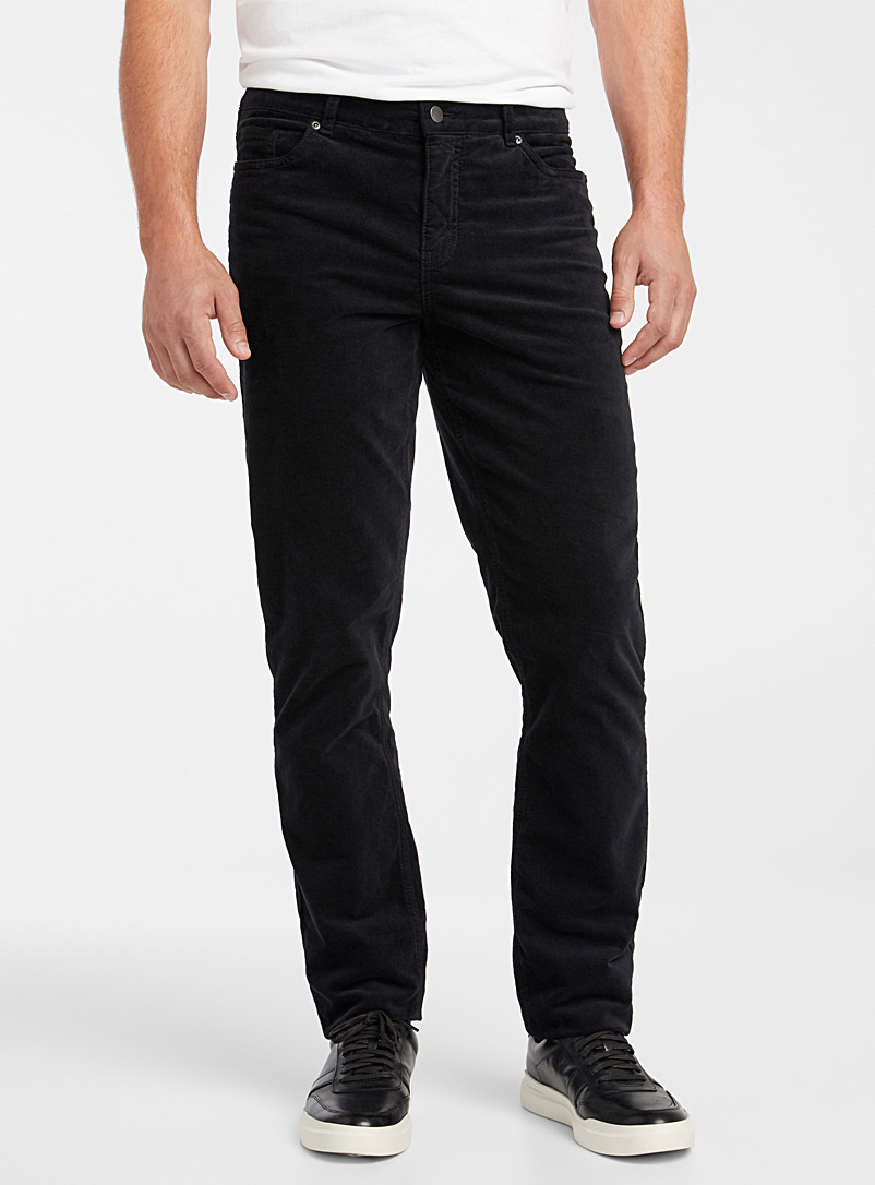 Stretch velvet pant  Stockholm fit-Slim