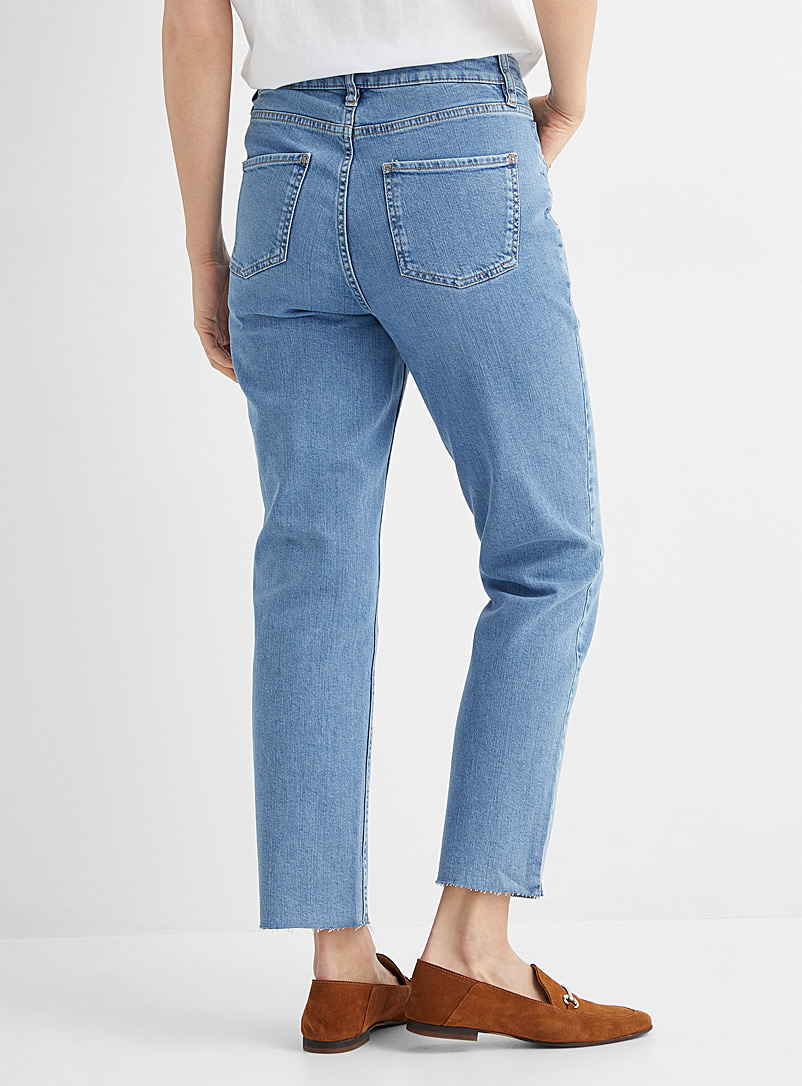 Contemporaine Slate Blue Organic cotton relaxed jean for women