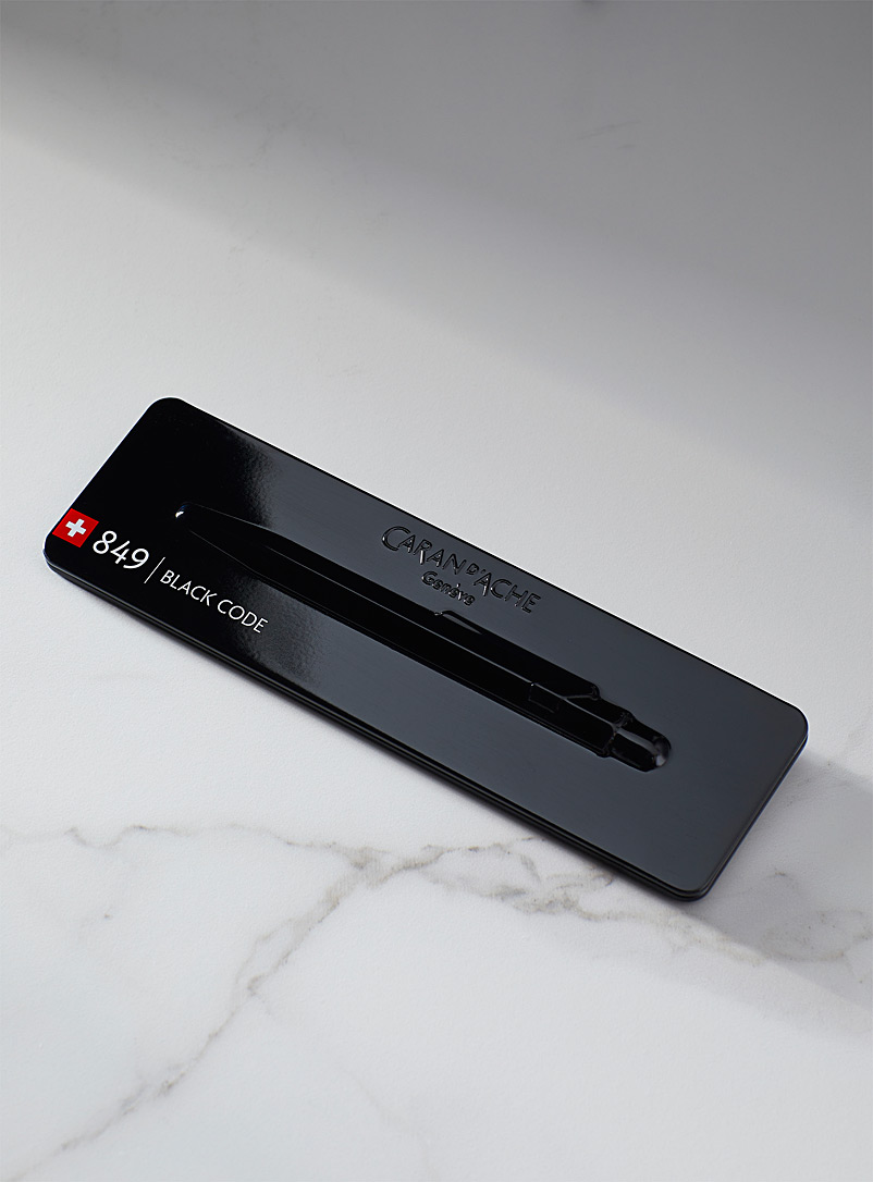Caran d'Ache Black 849 ballpoint pen with case for men