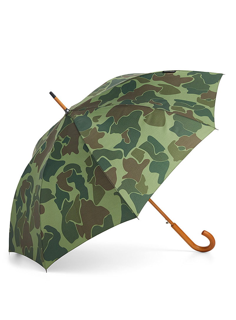 Westerly Patterned Green Printed Scout umbrella for men