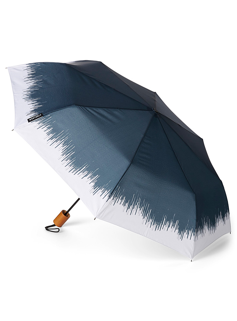 Westerly Patterned Blue Drifter umbrella for men