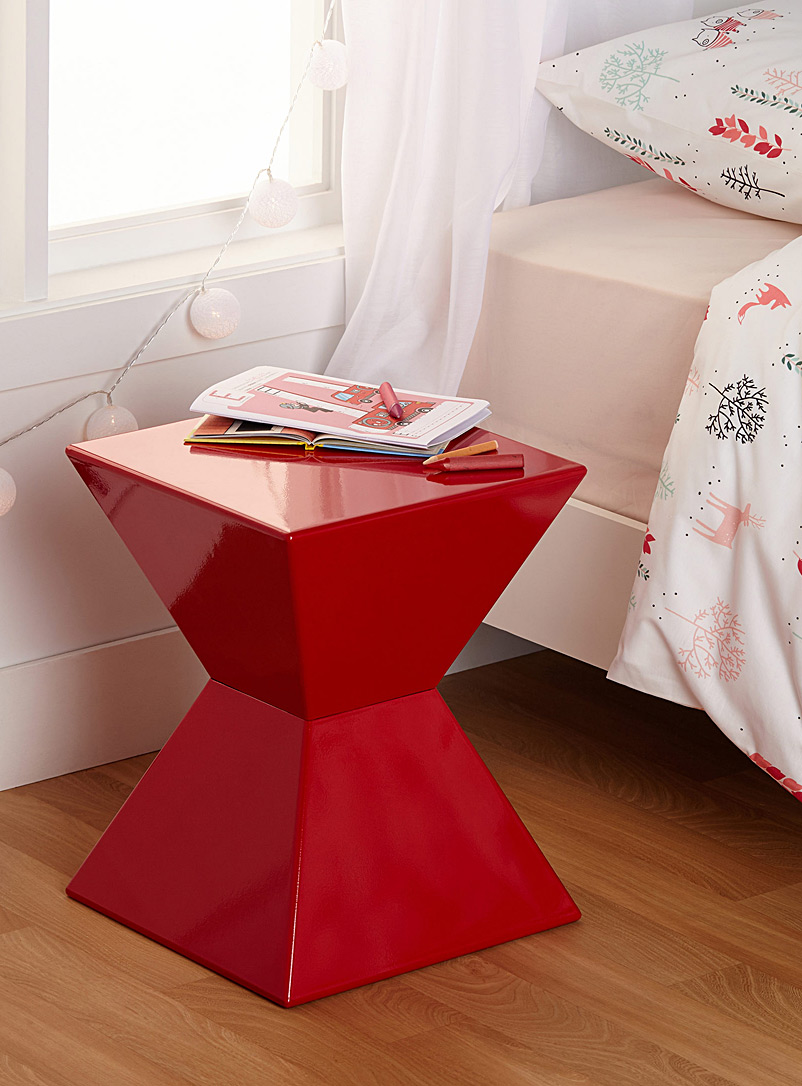 Simons Maison Red Vibrant cocktail end table