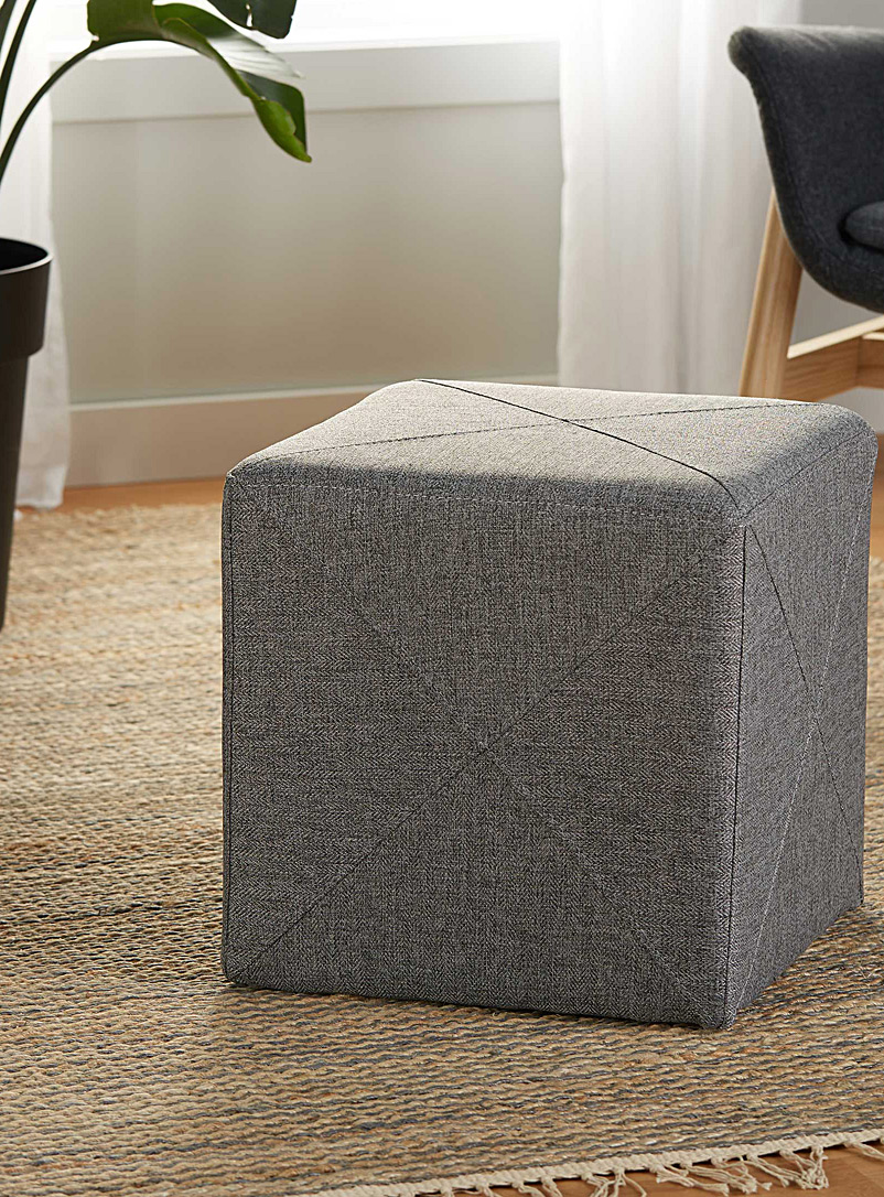 Urban cubic pouf - Accent Furniture - Dark Grey