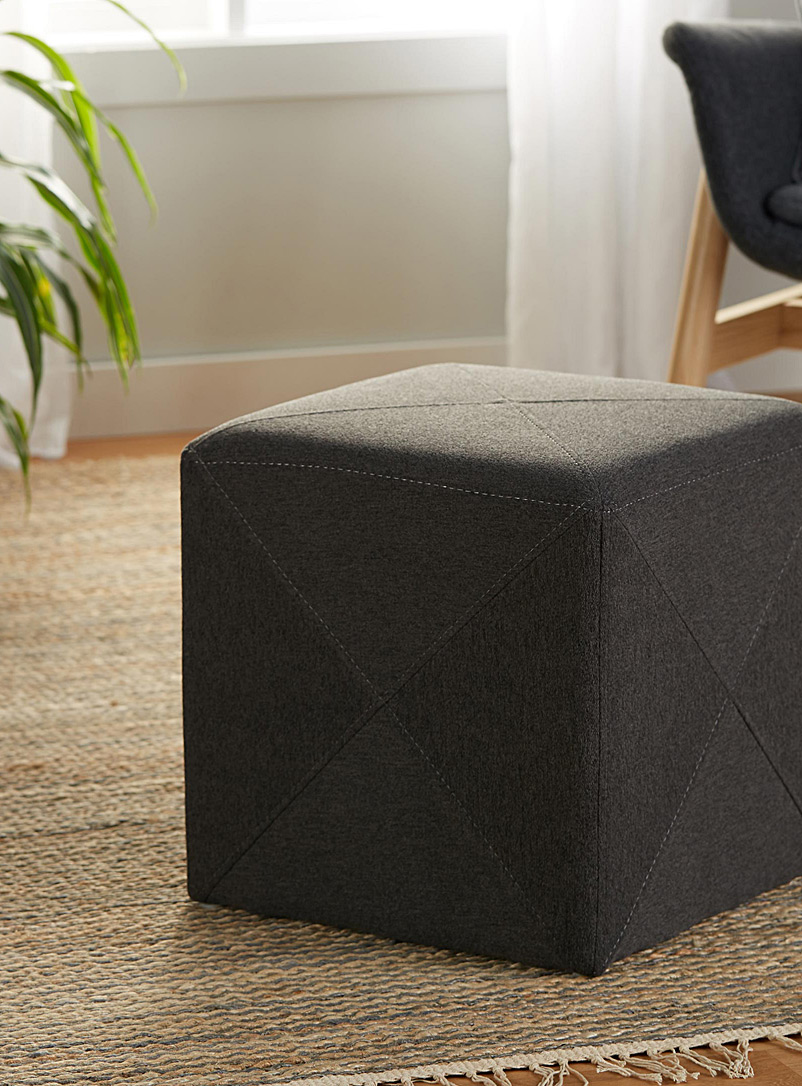 Simons Maison Light Grey Urban cubic pouf