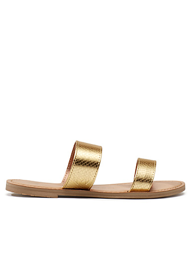 Azalea metallic sandals